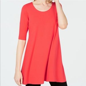 NWT Eileen Fisher Elbow Sleeve Jersey Tunic